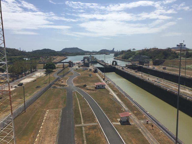 View of the canal's Pacific side during our day at the Panama canal