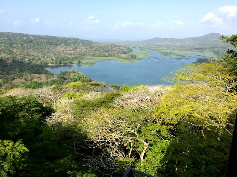 The most breathtaking view from high up in the Gamboa rainforest, which we reached by aerial tramway