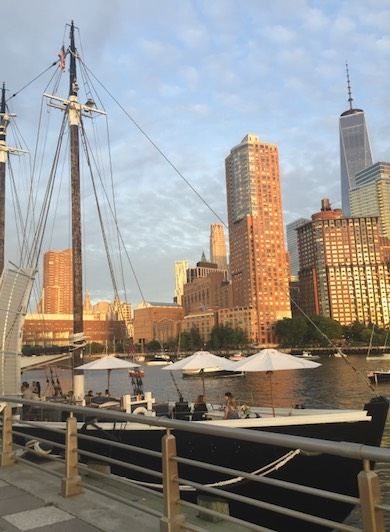 Pier 25 in Tribeca, one of the highlights of our family adventure in the Big Apple