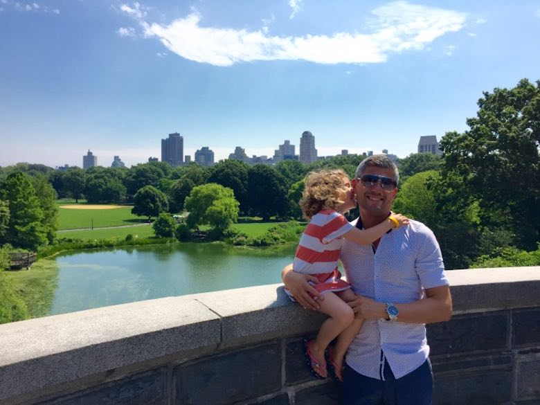 Daddy-daughter secrets at Belvedere Castle in Central Park