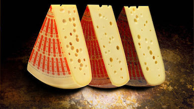 Famous Swiss Emmental cheese