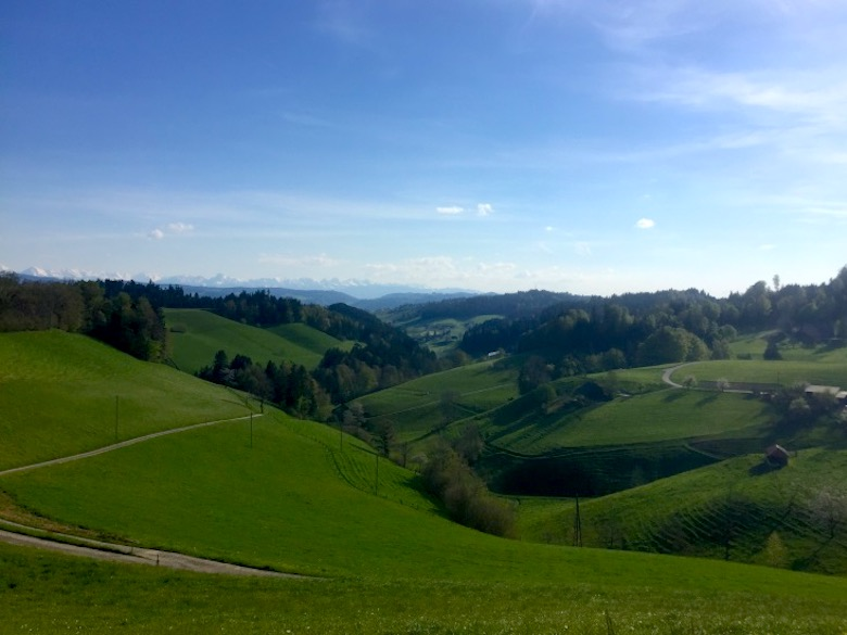 The lush green hills awaiting those who explore Emmental in Switzerland