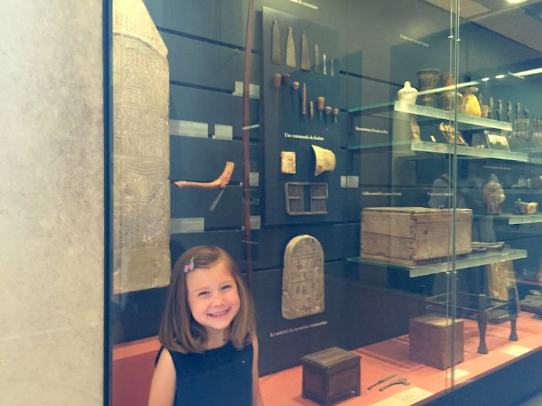 Discovering Egyptian antiquities in the Louvre during a mother-daughter trip in Paris