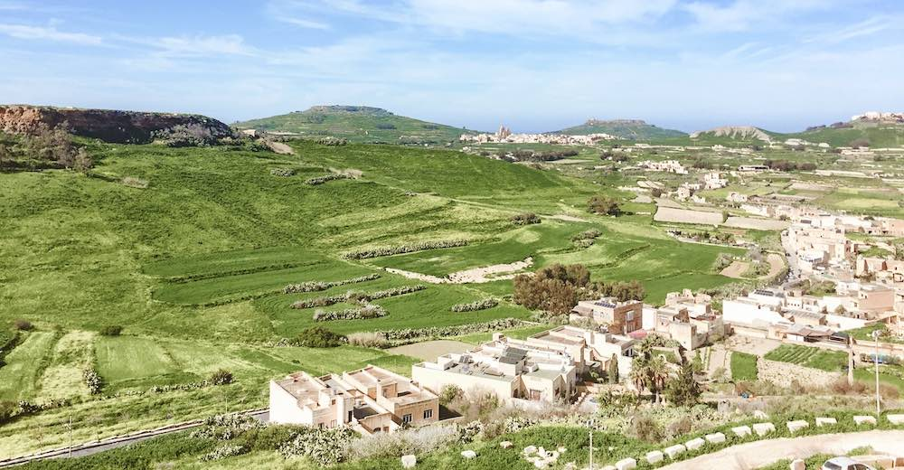 Views from the Cittadella on Gozo