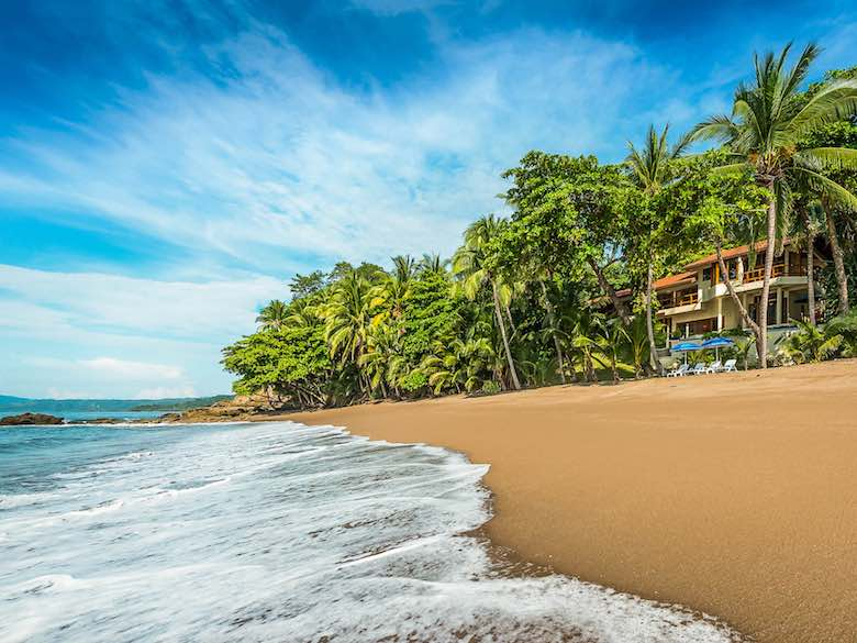 Private beach with a view to Cast Oceano in Costa Rica, available via Luxury Retreats