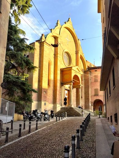 The church of San Giovanni in Monte in the heart of vibrant Bologna, Italy