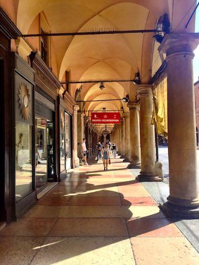A portico in Bologna