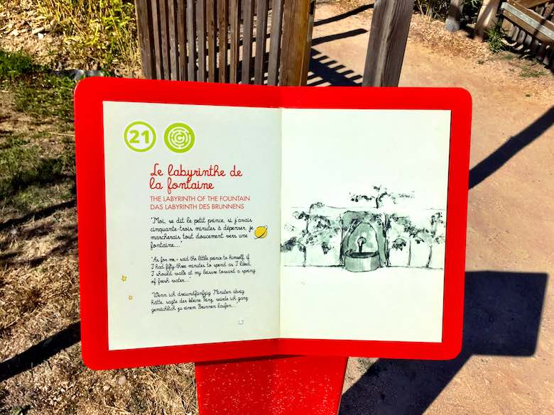 Intro to one of the attractions at Parc du Petit Prince