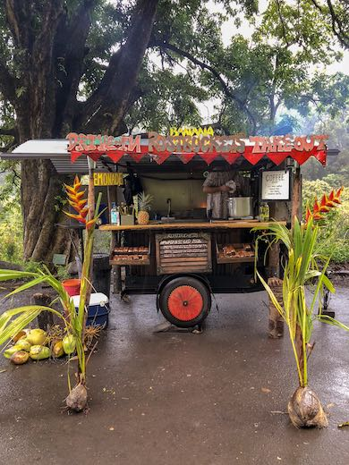Food stalls such as this one make for excellent Road to Hana stops