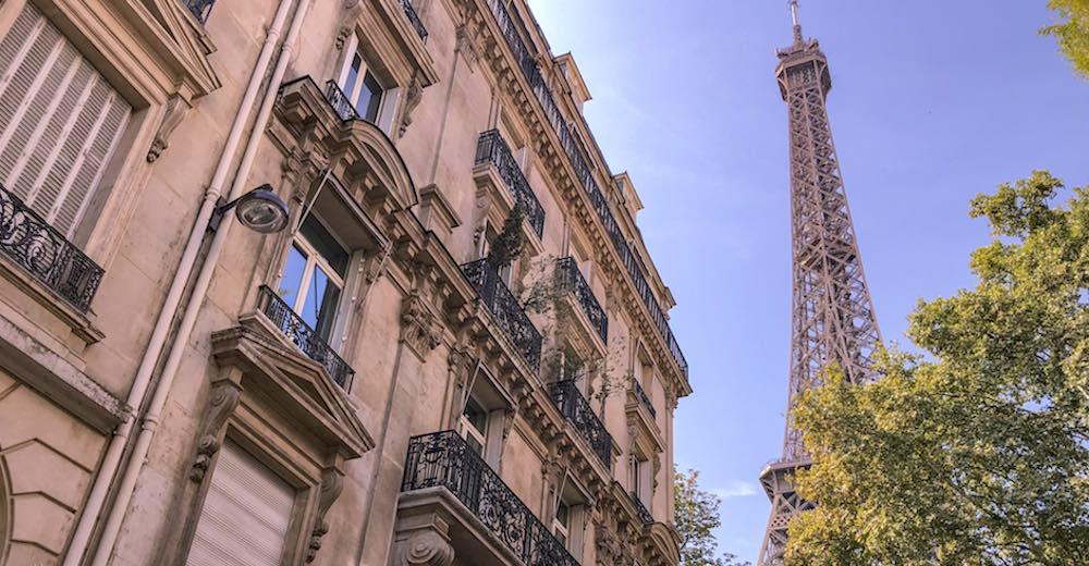 Eiffel Tower views from the Rue De l'Université
