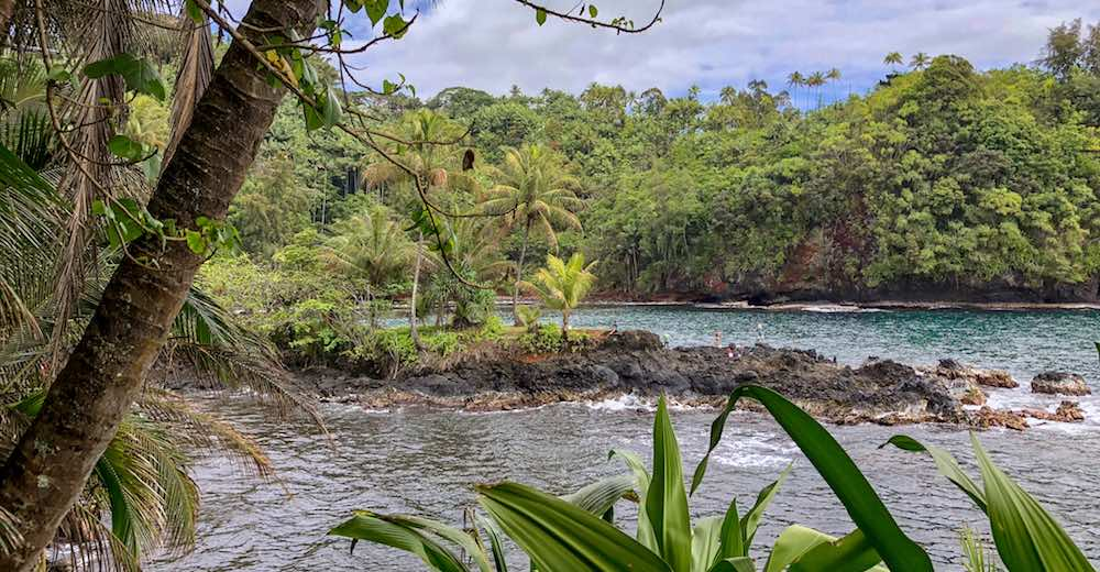 Getting to Onomea Bay via a short hiking trail on Big Island