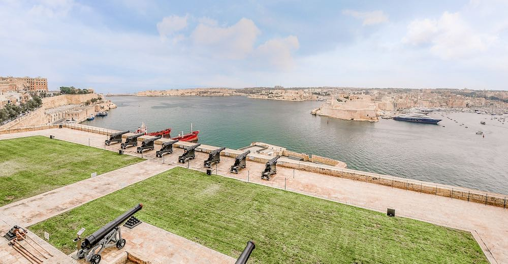 The saluting battery, one of the best things to visit in Malta