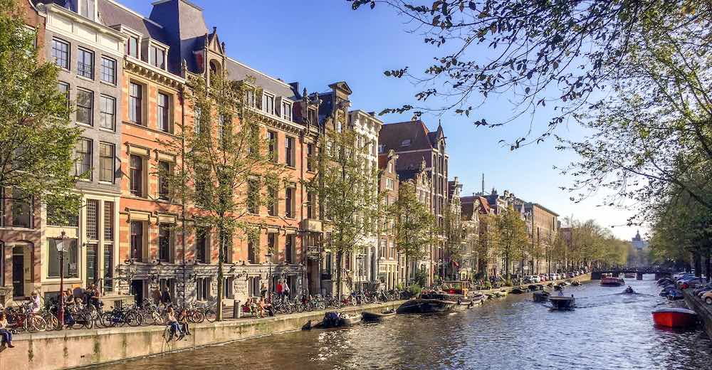 The Amsterdam canals