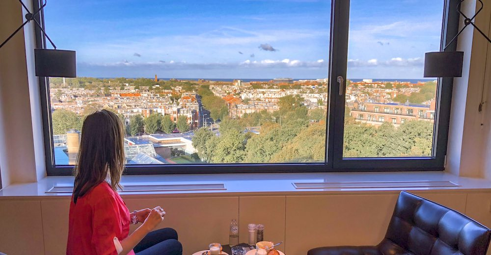 Breakfast with a view in the Marriott The Hague Executive Lounge
