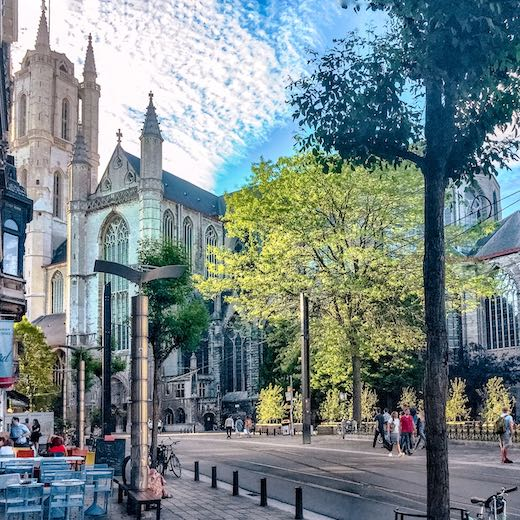 St Bavo's Cathedral in Ghent Belgium