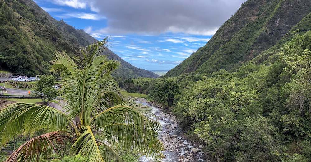 ''Iao Valley offers stunning valley views all the way to the ocean