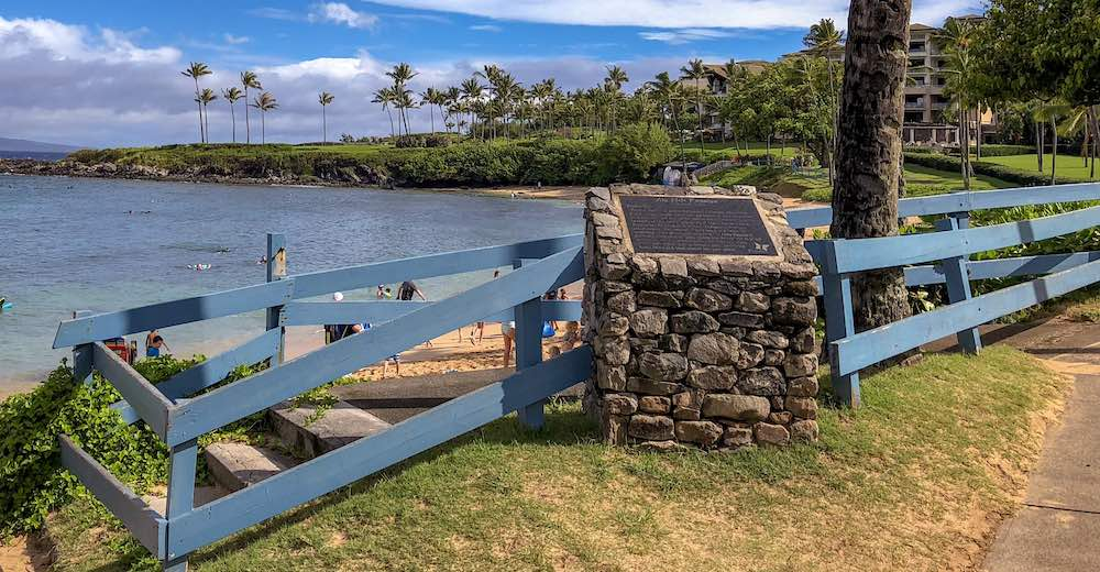 The trailhead for the Kapalua Coastal Hike, one of the best places to hike in Maui for families