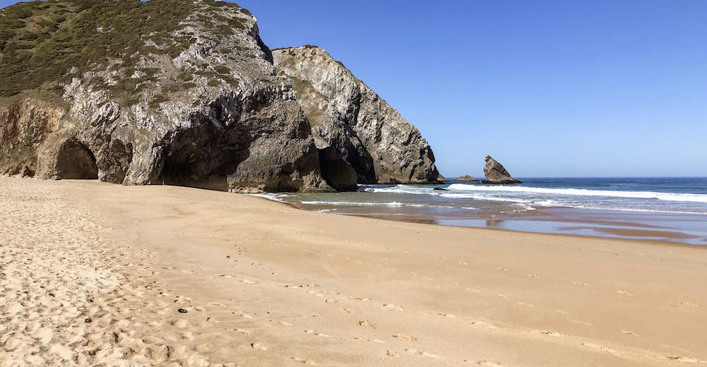 Praia da Adraga beach, one of the best beaches near Portugal