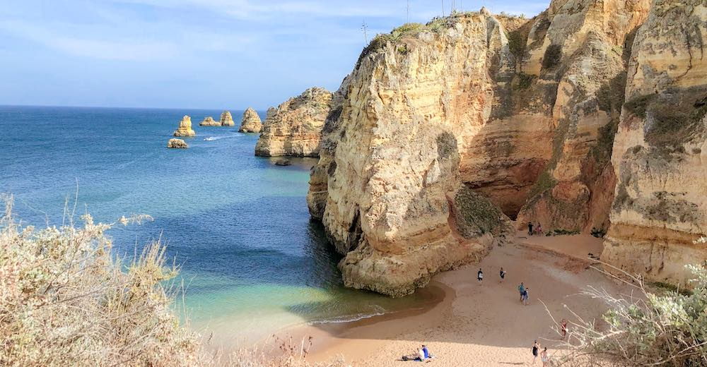 Our favorite north part of Praia da Dona Ana beach in the Algarve
