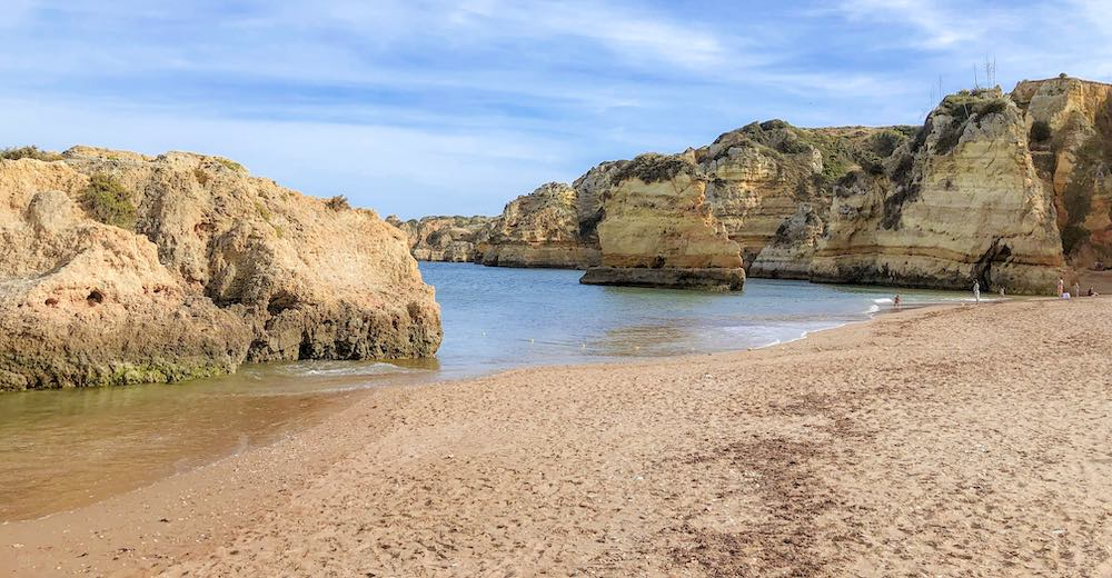 A view of Praia da Dona Ana beach in the Portuguese Algarve