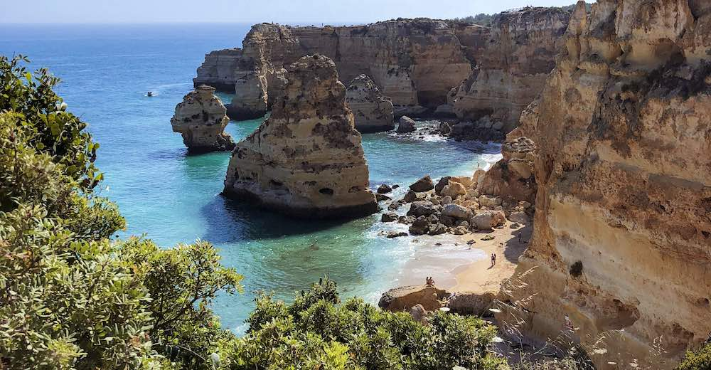 Praia da Marinha beach is one of the most beautiful Algarve beaches in Portugal