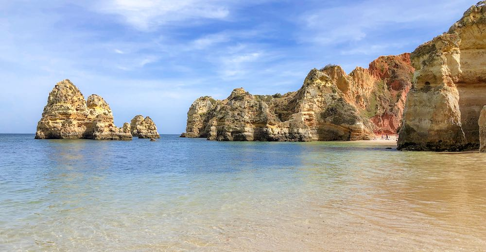 The Portuguese beach of Praia do Camilo in the Algarve