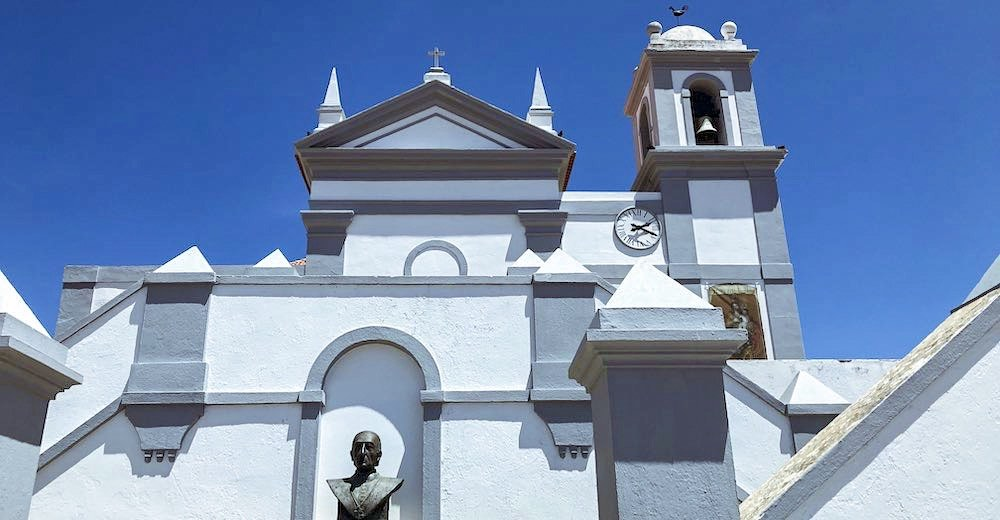 The church of Aljezur along the Costa Vicentina in the Algarve