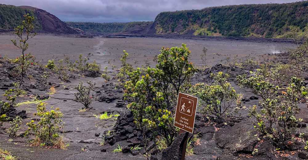 Big Island hiking at the Kilauea Iki Trail