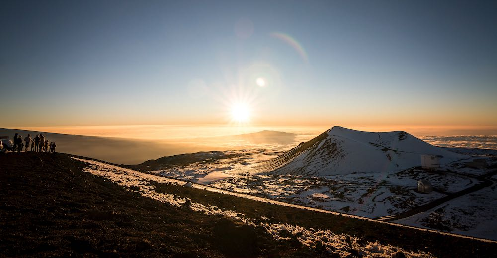 The Maunakea summit offers one of the best sunset
