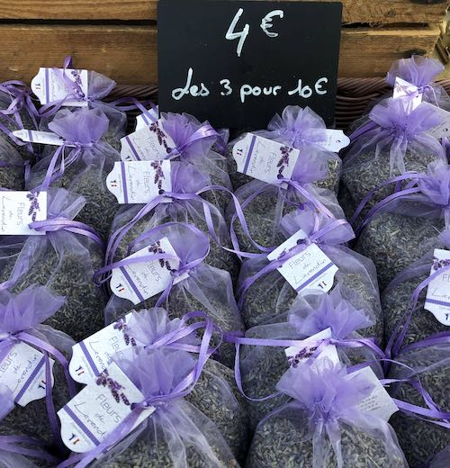 Lavender bags at the artisan markets in South of France