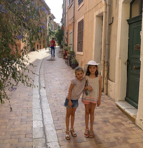 Pastel houses in Cassis France