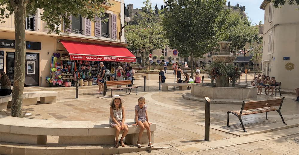 Beautiful square in Cassis France
