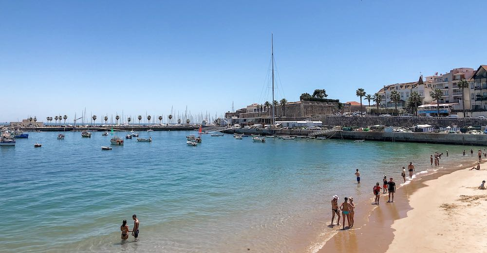Praia da Ribeira is one of the most popular beaches in Cascais, one of the most beautiful places in Portugal