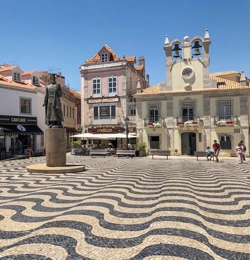 Main square in Cascais Portugal