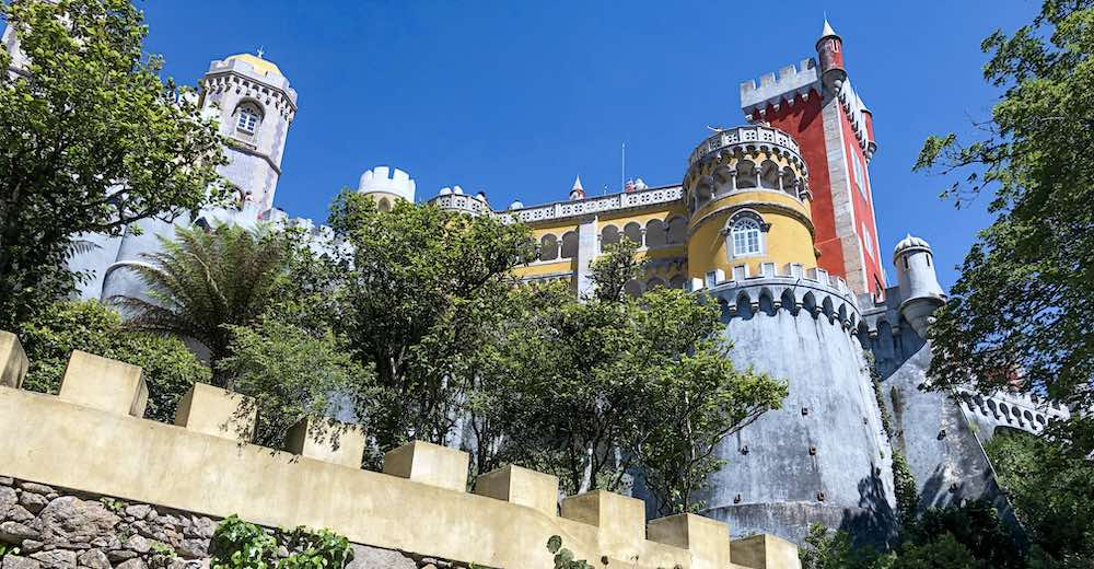 Pena palace in Sintra is one of the prettiest places in Portugal
