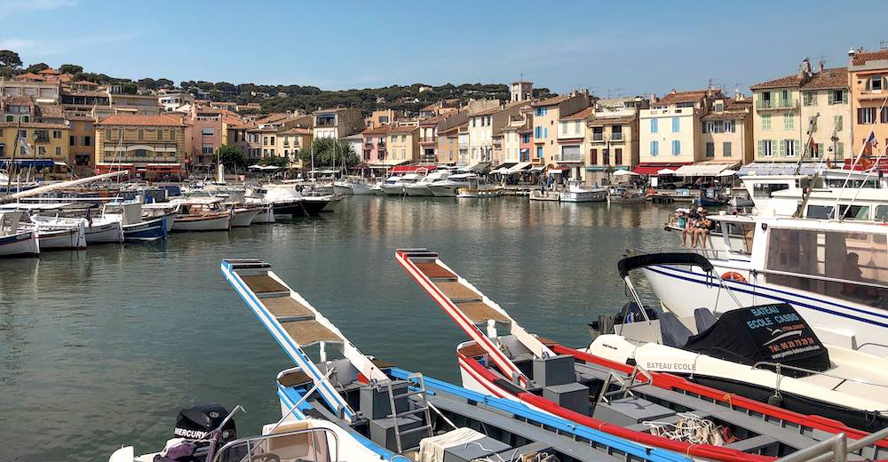 Le port de Cassis France with the pointu fishermen boats