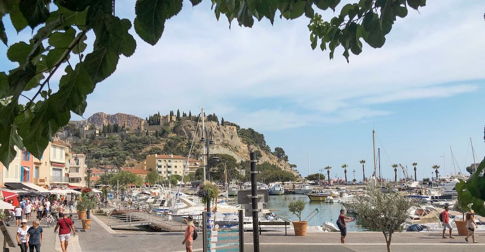 Enjoy one of the local white wines while overlooking the Chateau de Cassis in the South of France