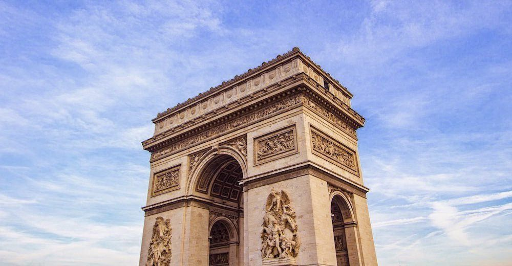 Among the pictures of famous landmarks in France is this one of the Arc de Triomphe