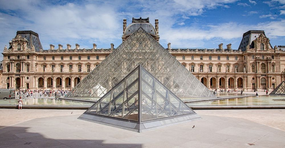 The Louvre is one of the most famous landmarks in Paris and France