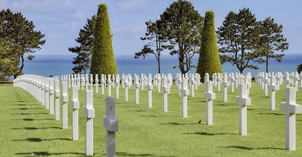 Omaha beach is one of the most significant landmarks of France