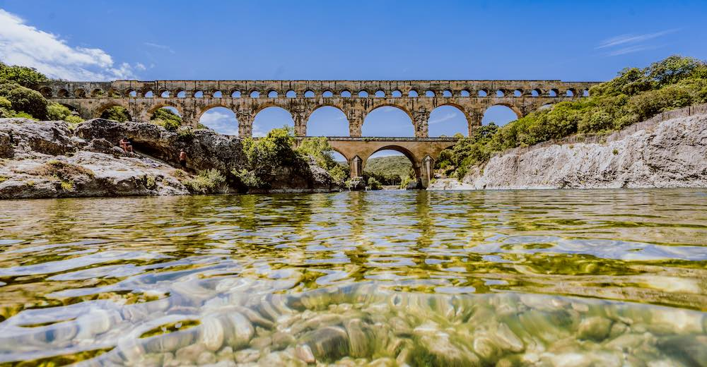 The Pont du Gard is one of the most significant French landmarks