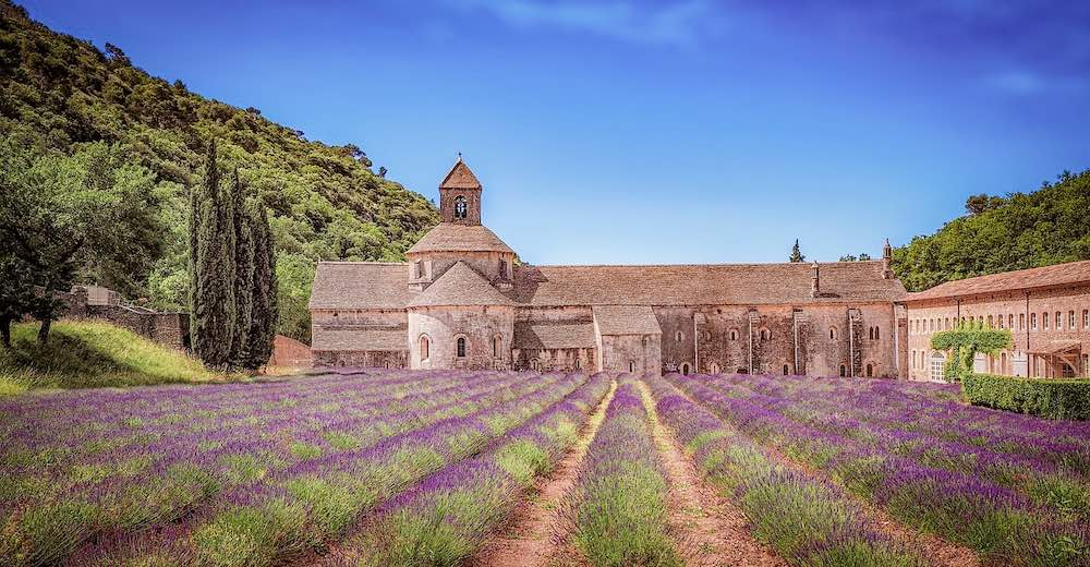 The Senanque abbey is the most photographed image of the Provence Lavender fields