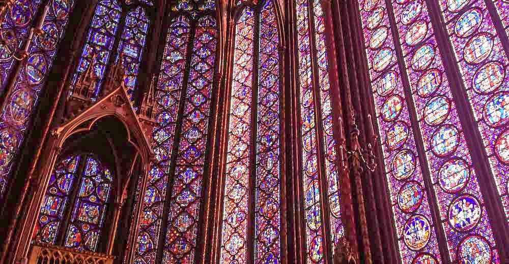 The Sainte Chapelle is a famous landmark in Paris France