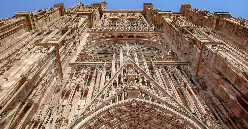 The Cathedral in Strasbourg is one of France famous landmarks