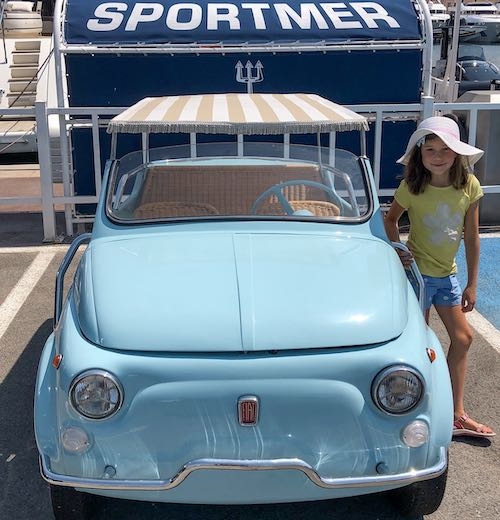 A Fiat 500 Mare in St. Tropez France
