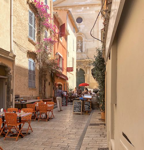 Wandering the charming streets of La Ponche old town in Saint Tropez France