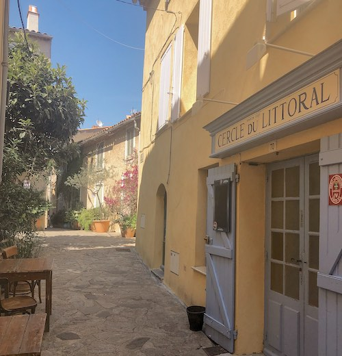 The charming streets of Ramatuelle France