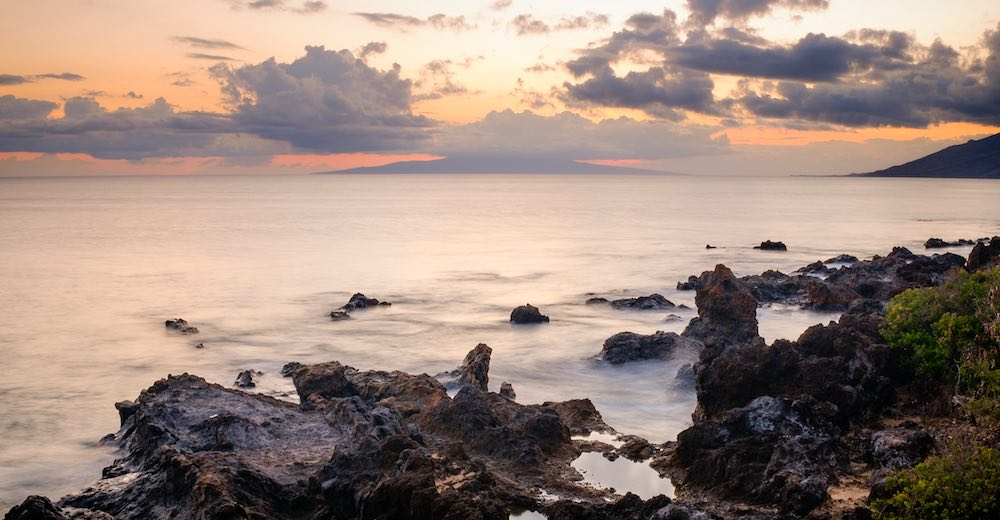 Rocky beach in Wailea, one of the best places to stay Maui