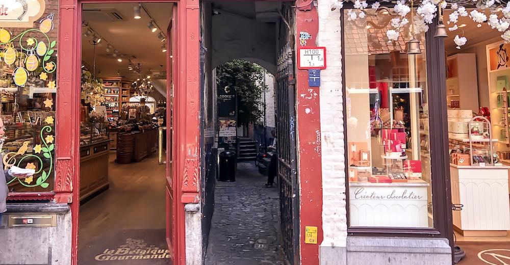 Try the Christmas beer at cafe de Garre in Bruges Belgium