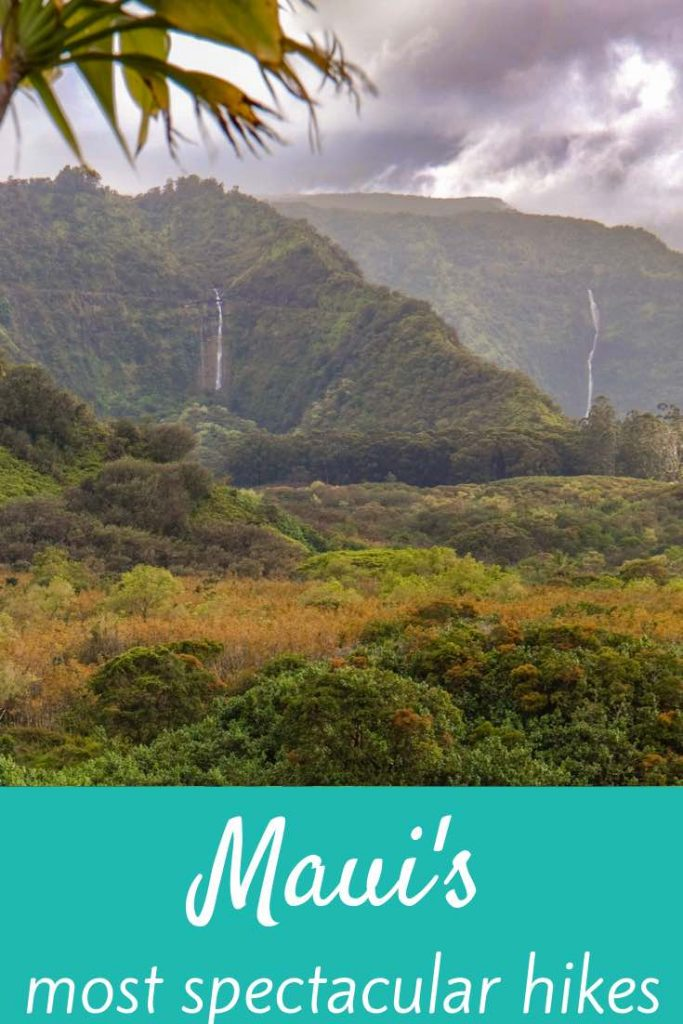 Looking for the most scenic Maui hikes? You'll find them in this article: Maui's waterfall hikes, mountain hikes, coastal hikes and an epic volcano hike, all thouroughly explained and indicated on a handy map. #travel #hawaii #maui #hiking #outdoor